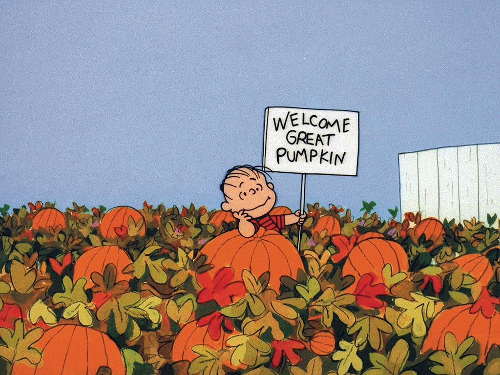 Linus Van Pelt waited for the Great Pumpkin to bring consumerist toys to his sincere pumpkin patch.
