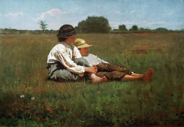 Winslow Homer's Boys in a Pasture (1874). Bucolic, isn't it?