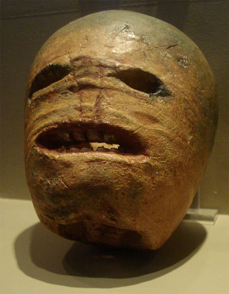 A traditional Irish Jack-O-Lantern. Creepy, isn't it?