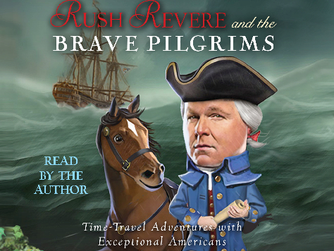 Radio bloviator Rush Limbaugh, alongside his fictional horse, Liberty (yes, Liberty). He fancies himself a historian, for some reason.