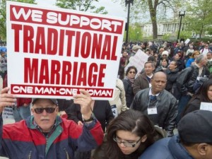 "Presumably, by ""traditional marriage,"" these folks mean the right have roughly 1,000 wives -- just like King Solomon did in the Bible."