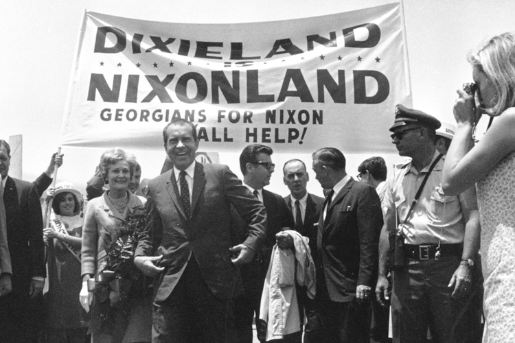 Richard Nixon, the man who made political hay out of Democratic voters' latent conservatism.