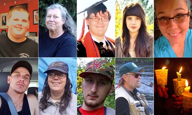 The victims of Chris Harper-Mercer's rampage at Umpqua Community College in Oregon.
