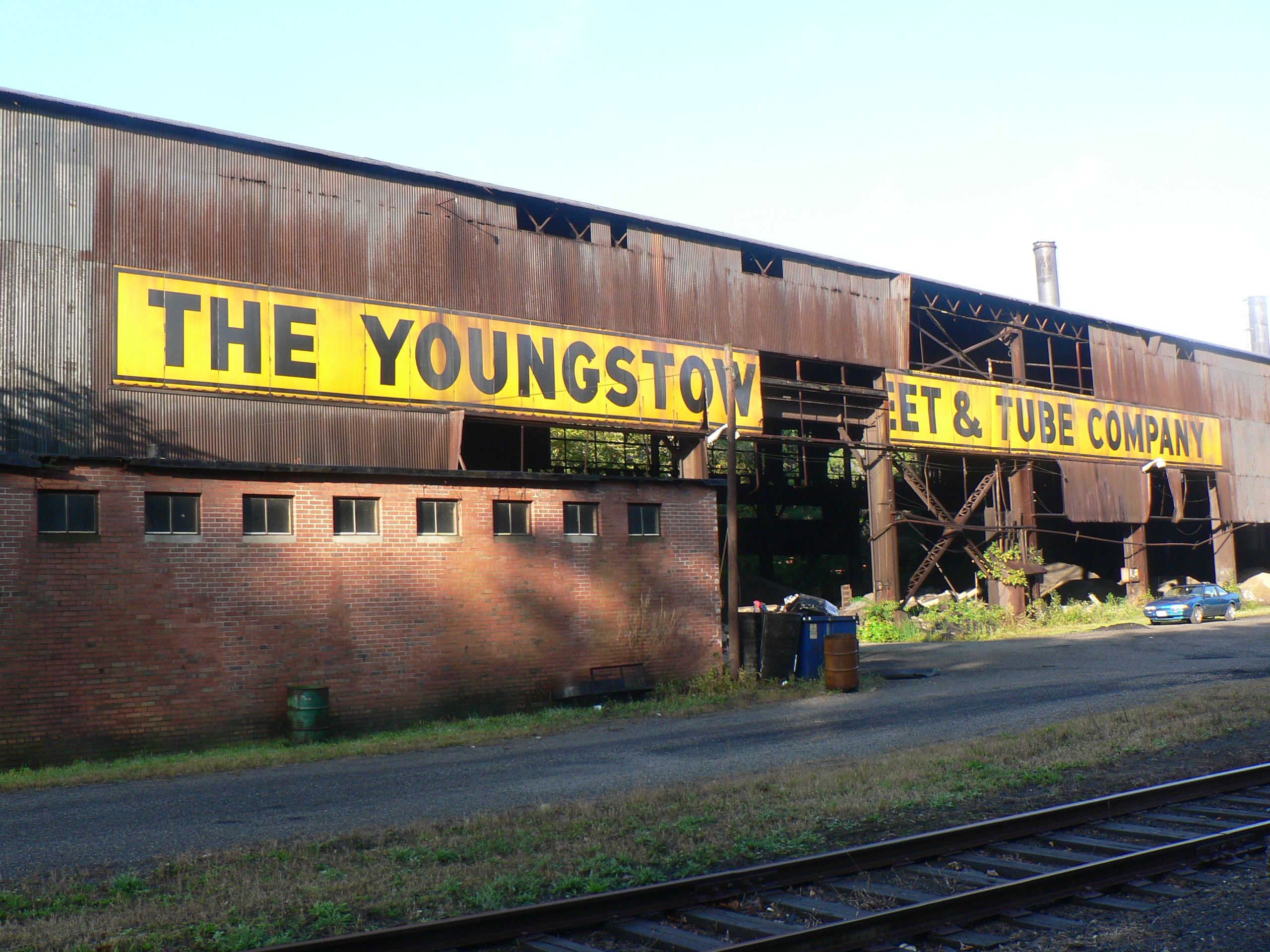Shuttered steel works in Youngstown, Ohio, the poster-child for the failed working-class American dream.