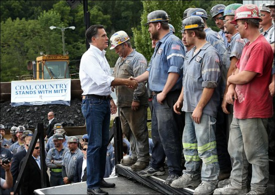 Former GOP presidential candidate Mitt Romney told blue-collar workers to believe in America, even if they couldn't rely on America's economic system.