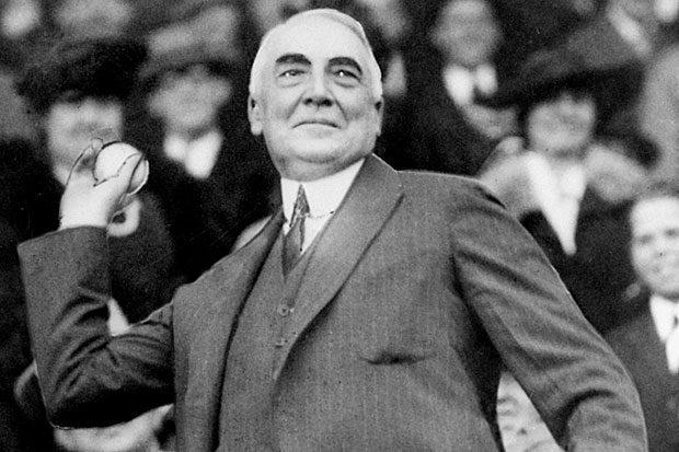 President Warren G. Harding: keepin' it real by keepin' immigrants out.
