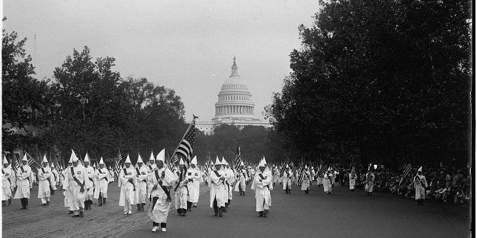 The Second Ku Klux Klan of the 1920s was a classic, reactioanry, Middle-American Radical movement.
