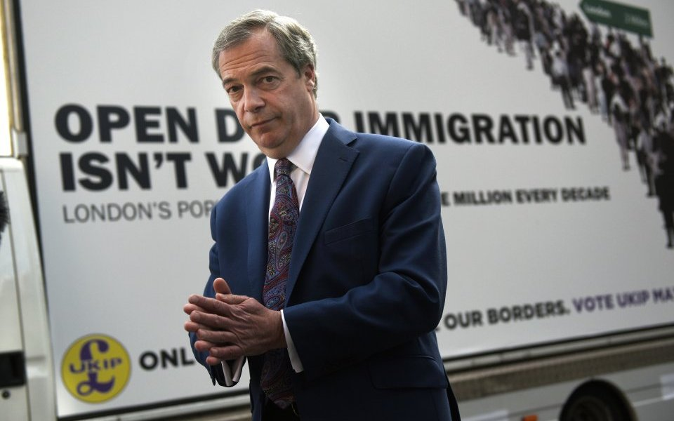 "Nigel Farage holds the unofficial title of ""Britain's Donald Trump."" That's a yoooge deal."