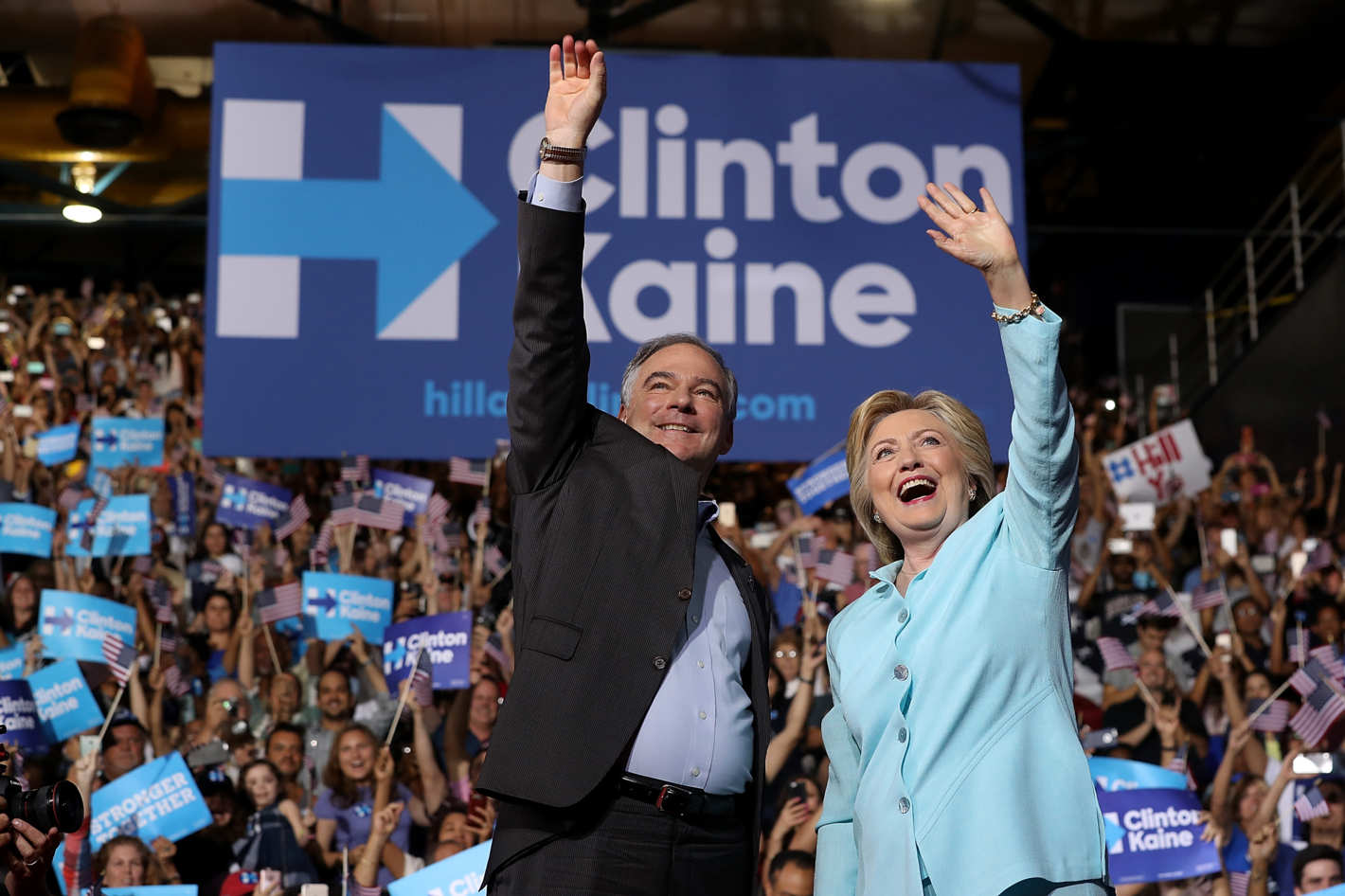 The 2016 Democratic PArty ticket. I guess it's better than the End of the World.