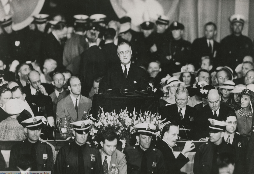 FDR accepts the Democratic nomination for president in 1936.