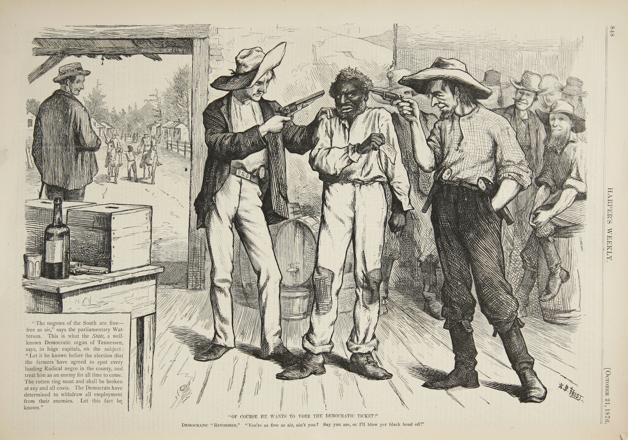 This depiction shows of the perils of Reconstruction voting, which Free State of Jones depicts with harsh accuracy.