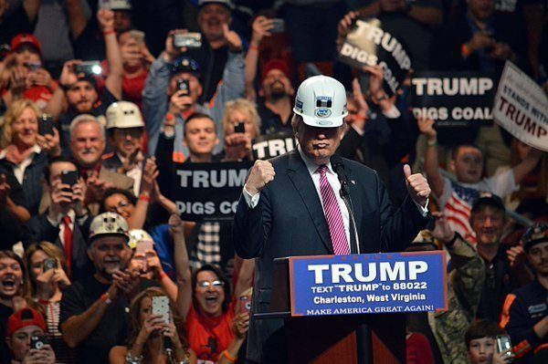 rump managed to partially replicate Richard Nixon's strategy of courting the HArd Hat vote.